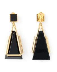 Marni | Black Triangle Pendant Earrings | Lyst