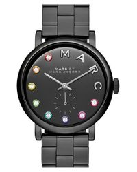 Marc Jacobs - Black 'baker' Crystal Index Bracelet Watch - Lyst