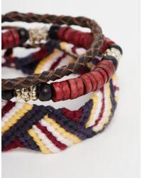 Icon Brand - Embroidered Bracelet Pack for Men - Lyst