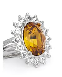 Kenneth Jay Lane | Metallic Topaz Crystal Ring | Lyst