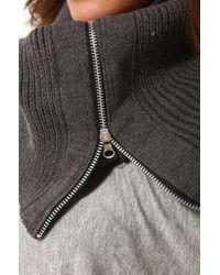 AKIRA | Gray Zipper Knit Pullover Scarf in Grey | Lyst