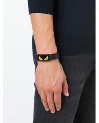 Fendi | Black Bag Bugs Bracelet for Men | Lyst