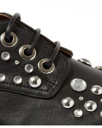 Givenchy - Black Leather Commando Derby Shoes - Lyst