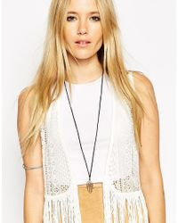 ASOS - Blue Hamsa Cord Necklace - Lyst