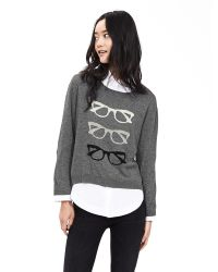 Banana Republic | Gray Fisherman Stitch Pullover | Lyst