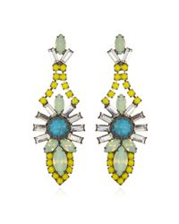 Elizabeth Cole | Green Brynn Earrings | Lyst