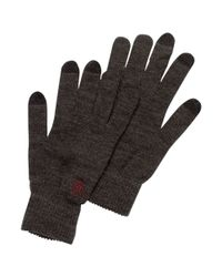 Original Penguin - Gray Smart Touch Merino Wool Gloves for Men - Lyst