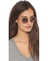 Elizabeth and James - Metallic Hoyt Sunglasses Shiny Goldbrown Blue Ocean - Lyst