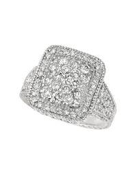 Morris & David - 14kt White Gold And Diamond Ring - Lyst