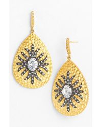 Freida Rothman | Metallic 'metropolitan' Teardrop Earrings | Lyst