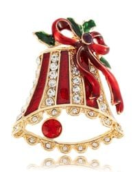 R.j. Graziano | Red Holiday Bell Brooch | Lyst