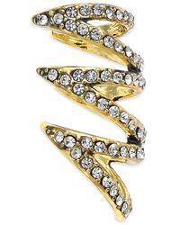 House of Harlow 1960 - Metallic Gold-tone Pavé Multi-row Ear Cuff - Lyst