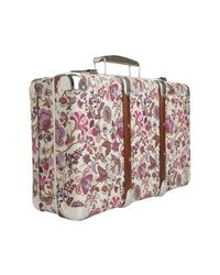 Liberty - Metallic Floral Mirabelle Print Mini Suitcase - Lyst