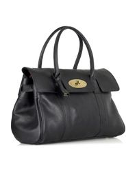 Mulberry | Black Bayswater Leather Bag | Lyst