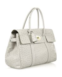 Mulberry | White Bayswater Ostrich-leather Bag | Lyst