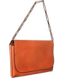 Ragazze Ornamentali - Orange Nappa Boudoir Contemporain Shoulder Bag - Lyst