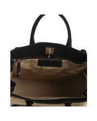 Balenciaga | Natural Canvas and Leather Lune Large Tote | Lyst