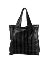 Beirn | Black Snakeskin Andrea Large Tote | Lyst