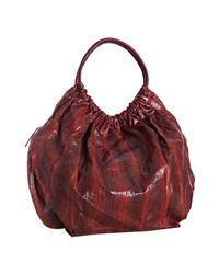 Beirn | Red Cherry Snakeskin Ruthie Shoulder Bag | Lyst