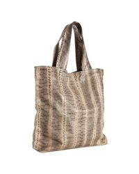 Beirn | Natural Stone Snakeskin Andrea Large Tote | Lyst