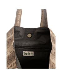 Beirn   Natural Stone Snakeskin Andrea Large Tote   Lyst