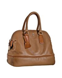 Céline | Brown Camel Deerskin Medium Bowling Bag | Lyst