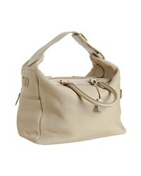 Céline | White Cream Pebbled Leather Large Convertible Hobo | Lyst
