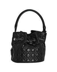 Dior | Black Quilted Lambskin Chri-chri Bucket Bag | Lyst