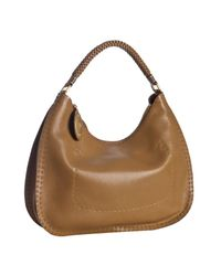 Fendi | Natural Camel Roman Leather Selleria Hobo | Lyst