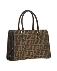 Fendi | Brown Tobacco Zucca Selleria Medium Tote | Lyst