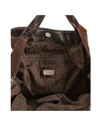 Furla - Brown Suede Elisabeth Large Shoulder Bag - Lyst