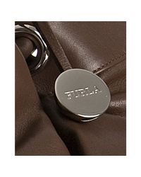 Furla - Brown Quarzo Leather Madeleine Drawstring Shopper Tote - Lyst