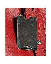 Furla - Red Geranium Leather Narciso Medium Shopper Tote - Lyst