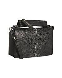 Givenchy | Black Stingray Flap Crossbody Bag | Lyst