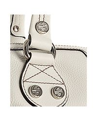 Gucci | White Leather G Coin Large Zip Tote | Lyst