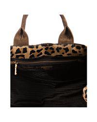 Prada - Multicolor Leopard Printed Pony Hair Medium Tote - Lyst