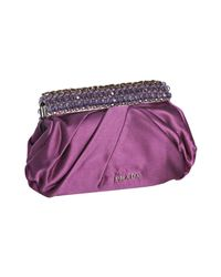 Prada | Purple Dahlia Satin Jeweled Clutch | Lyst