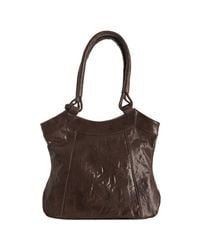 Rough Roses - Brown Glazed Leather Riley Pocket Tote - Lyst