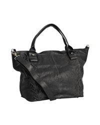 Sorial | Gray Steel Grey Whipstitched Leather Large Tote | Lyst