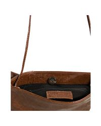 Susan Farber Collections - Brown Cognac Patent Mezzo Sofia Bow Convertible Bag - Lyst