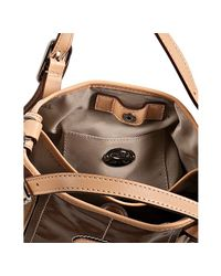 Tod's | Brown Coated Canvas G-bag Easy Mini Tote | Lyst