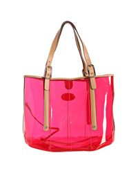 Tod's | Red Gummy G-bag Medium Shopping Tote | Lyst