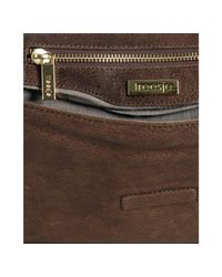 Treesje | Brown Café Leather London Studded Clutch | Lyst