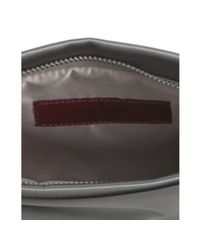 Valentino - Gray Iron Satin Bow Detail Clutch - Lyst