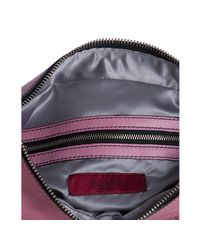 Valentino - Pink Leather Ruffle Detail Shoulder Bag - Lyst