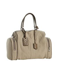 Saint Laurent | Natural Beige Canvas Vanity Large Bowler Bag | Lyst