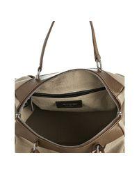 Saint Laurent | Natural Beige Canvas Vanity Large Bowler Bag | Lyst