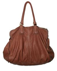 Sissi Rossi | Brown Washed Bufalo Tote | Lyst