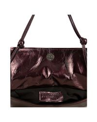Susan Farber Collections - Red Ruby Leather Juliet Ruffle Double Shoulder Bag - Lyst