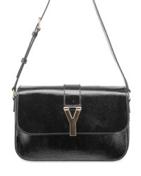 Saint Laurent | Black Chyc Large Flap Shoulder Bag | Lyst